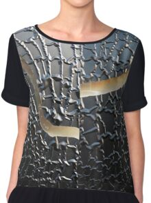 Cracked and Wrinkled Chiffon Top