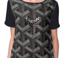 Goyard Perfect phone Case Black Chiffon Top