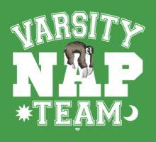 Sloth Varsity Nap Team Kids Tee