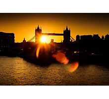 Tower Bridge Lens Flare Photographic Print