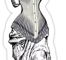 Goddess of love in corset Sticker