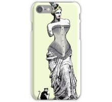 Goddess of love in corset iPhone Case/Skin