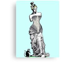 Goddess of love in corset Canvas Print