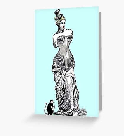 Goddess of love in corset Greeting Card
