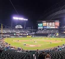 Safeco Night Panorama by TomGreenPhotos