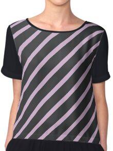 Stripes (Parallel Lines) - Purple Black  Chiffon Top