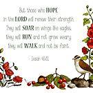 Bible Verse, Isaiah 40, Christian Scripture, Hope in the Lord by Joyce Geleynse