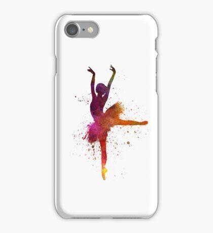 Woman ballerina ballet dancer dancing  iPhone Case/Skin
