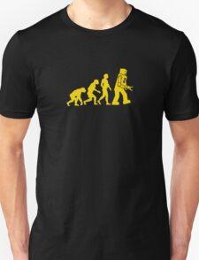 robot evolution robots funny logo Unisex T-Shirt