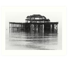 West Pier in the mist Art Print