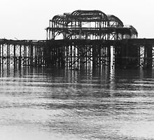 West Pier in the mist by Andrew O'Hara