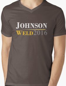 Johnson Weld Campaign Logo Mens V-Neck T-Shirt