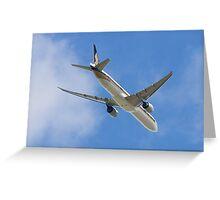 777 Overhead Greeting Card