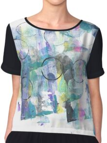 Abstract Circle Chiffon Top