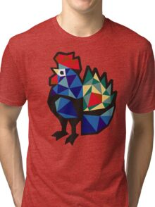 Polish Folk Rooster Tri-blend T-Shirt
