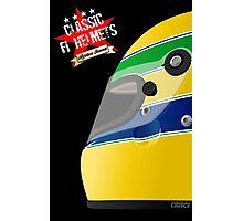 AYRTON SENNA _ Classic F1 Helmets Photographic Print