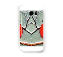 Cardinal Couple, Red Birds in Snow, Winter, Painting, Wildlife Samsung Galaxy Case/Skin