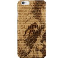 Surfing Hawaii, The Green Room, Hawaiian Surfing Design     iPhone Case/Skin