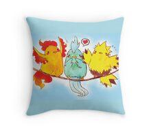 legenderpy birds Throw Pillow