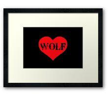 Wolfheart Framed Print