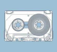 Audio cassette cutaway Kids Tee