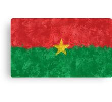 Burkina Faso Flag - Grunge Canvas Print