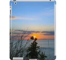 sunset over loop head with silhouetted wild tall thistles iPad Case/Skin