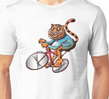 Cycling Tiger Riding a Racing Bicycle Unisex T-Shirt