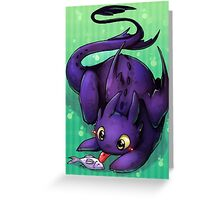 toothless the dragon Greeting Card