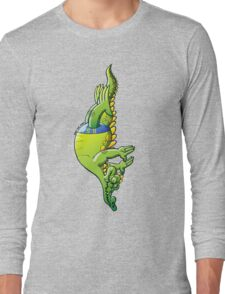 Diving Crocodile Long Sleeve T-Shirt