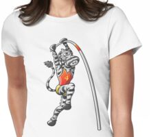 Pole Vault Zebra Womens Fitted T-Shirt