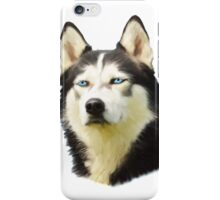 Siberian Husky Dog Water Color Art Painting iPhone Case/Skin
