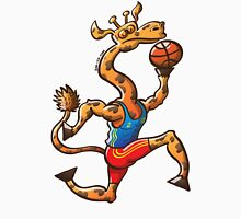 Basketball Giraffe Womens Fitted T-Shirt