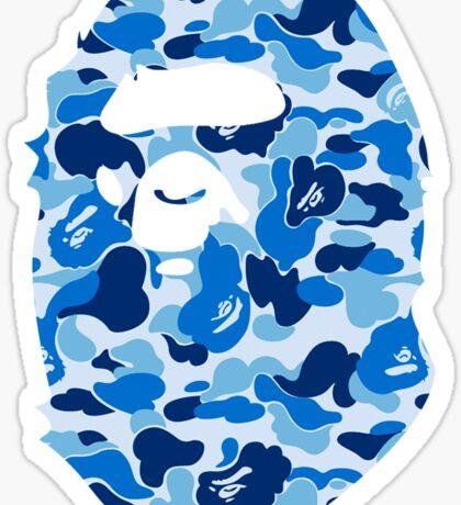 Blue Bape Logo Sticker