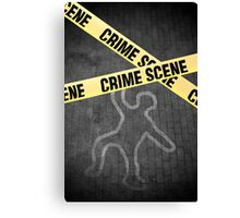 An outline of a person on a street. Murder? Suicide? An accident? Canvas Print