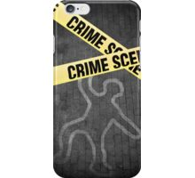 An outline of a person on a street. Murder? Suicide? An accident? iPhone Case/Skin