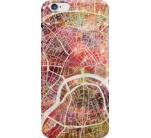 Moscow Map iPhone Case/Skin