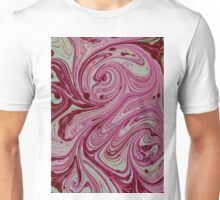 Pink, red and cream marble pattern Unisex T-Shirt