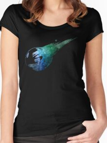 Final Fantasy VII logo universe Women's Fitted Scoop T-Shirt