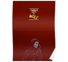 Ruby Lucas ~ Darling She's A Wolf Poster