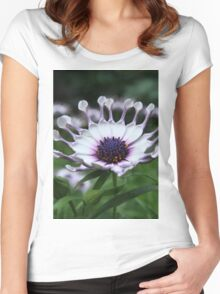 White African Daisy Women's Fitted Scoop T-Shirt