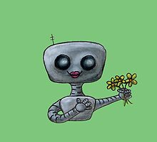 Flowers for Robot by rainydayart