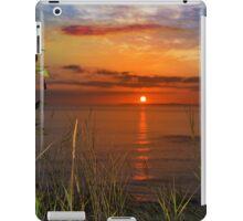 sunset over loop head with wild thistles iPad Case/Skin