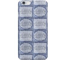 Cloudy blue Sky Star haiku pattern iPhone Case/Skin