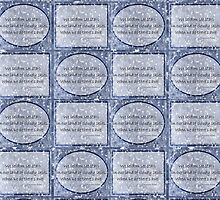 Cloudy blue Sky Star haiku pattern by PoemsProseArt