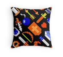 Legend of Zelda NES (items pattern) Throw Pillow
