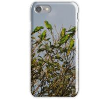 flock of green parrots iPhone Case/Skin