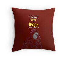 Ruby Lucas ~ Darling She's A Wolf Throw Pillow