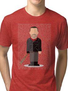 Negan - Walking Dead Tri-blend T-Shirt