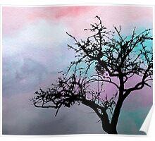 Design 32 Tree Silhouette Poster